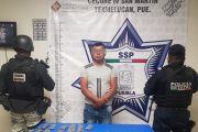 POLICÍA ESTATAL Y GUARDIA NACIONAL CAPTURAN A PRESUNTO NARCOMENUDISTA
